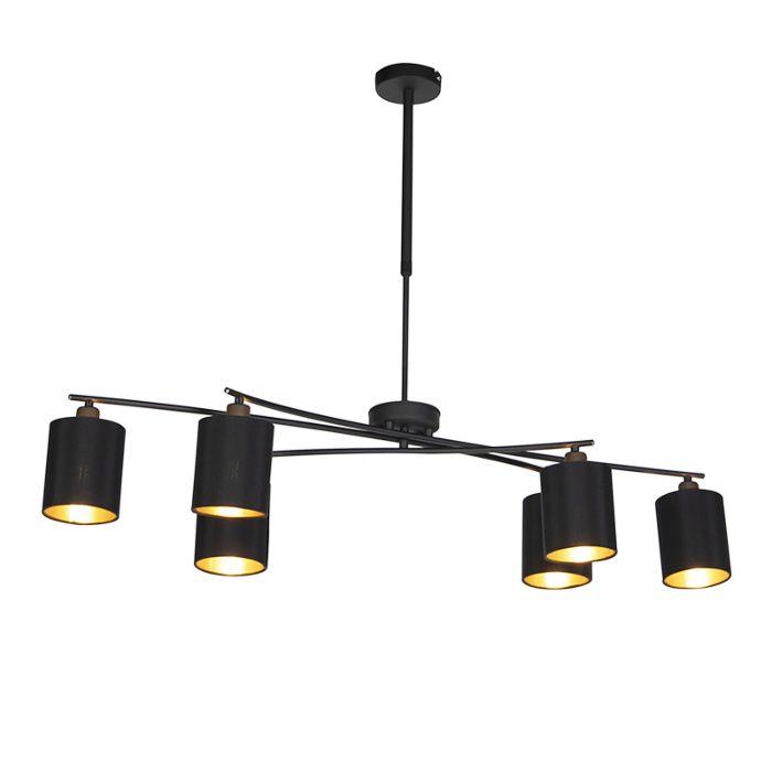 Nowoczesna-lampa-wisząca-czarna-regulowana---Lofty