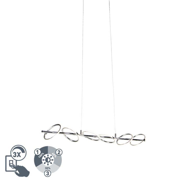 Designerska-lampa-wisząca-chrom-zawiera-LED---Olympia