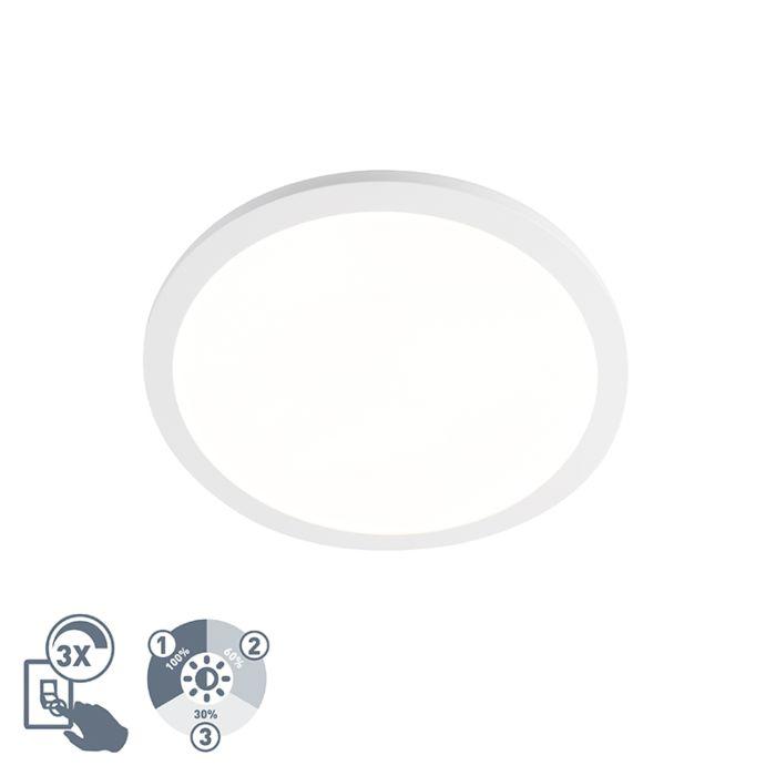 Nowoczesny-okrągły-plafon-biały-40cm-IP44-zawiera-LED---Camilla