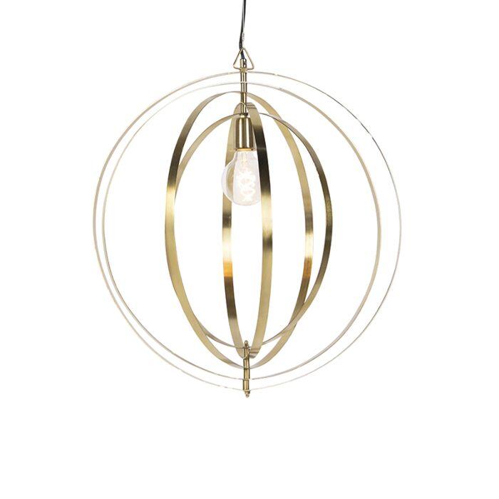 Vintage-lampa-wisząca-mosiężna---Pierścienie