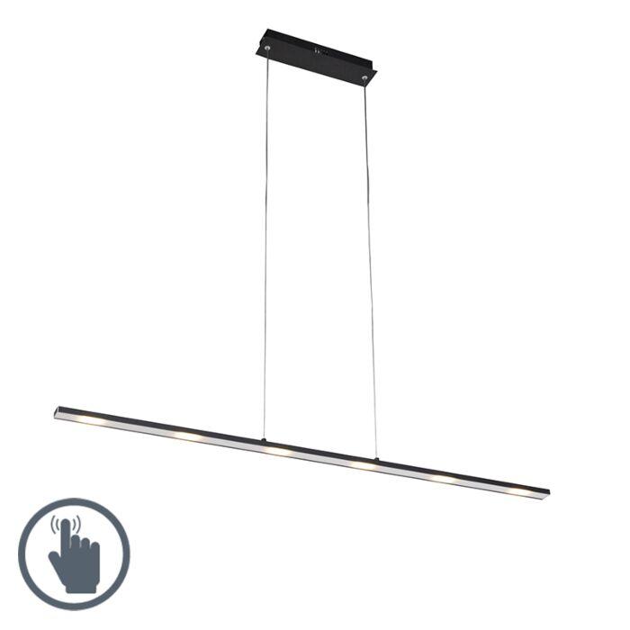 Lampa-wisząca-design-czarna-ściemniacz-dotykowy-120cm-z-diodą-LED---Platinum