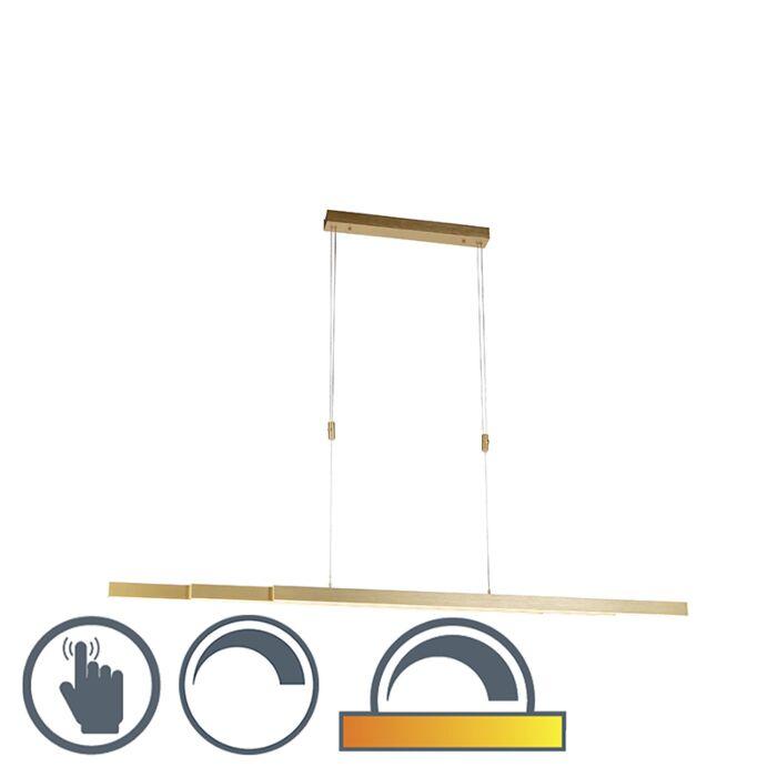 Regulowana-lampa-wisząca-z-mosiądzu-przyciemniona-i-ciepła-w-tym-LED---Juliet