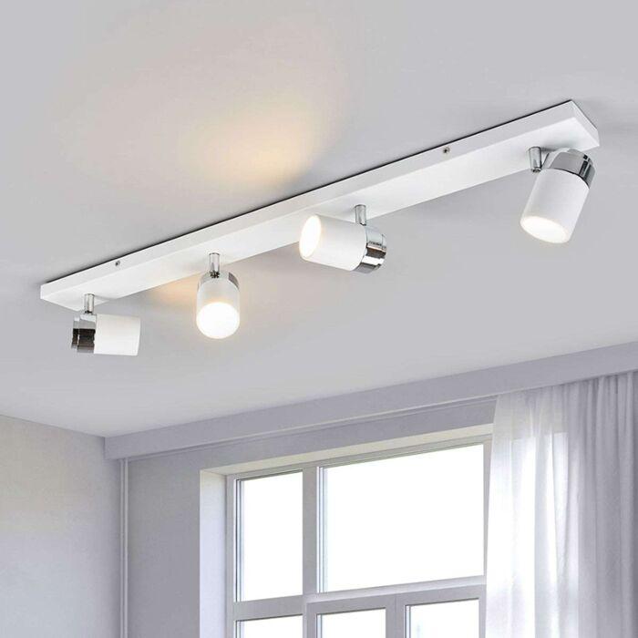 Nowoczesna-4-lampowa-lampa-łazienkowa-chrom-z-białym-IP44---Kardo