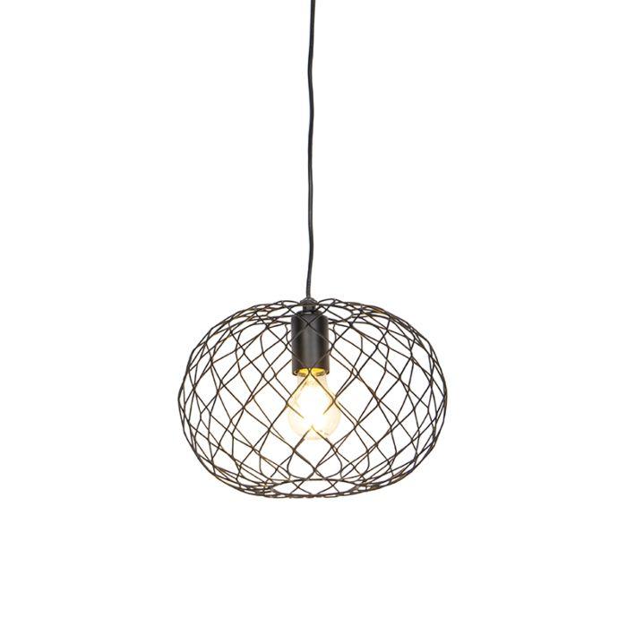 Designerska-lampa-wisząca-czarna---Helian