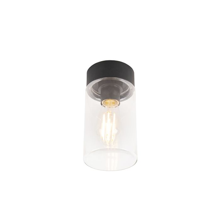 Nowoczesna-lampa-sufitowa-czarna-22,6-cm-IP44---Jarra