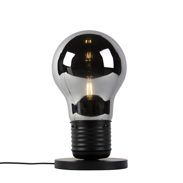 Designerska-lampa-stołowa-czarna-z-szkłem-dymnym---Nigrum