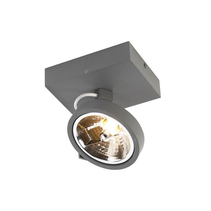 Designerski-spot-regulowany-szary-zawiera-LED-1-źródło-światła---Go