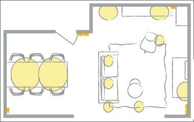funkcjonalny plan oświetlenia
