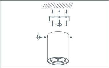 Steg 4: Sätt fast vägglampan