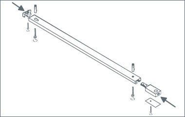 Krok 2. Przymocuj system szynowy do sufitu