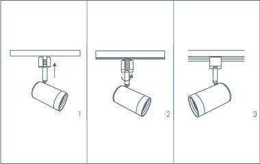Krok 4. Zamontuj reflektory na szynie